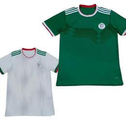 Calcio bianco verde online-Taglia S-2XL 2019 2 stelle Algeria casa bianco fuori verde Adulto MAHREZ FEGHOULI Algeria Calcio Atletica Uniformi maglie Maglie calcio 19 20