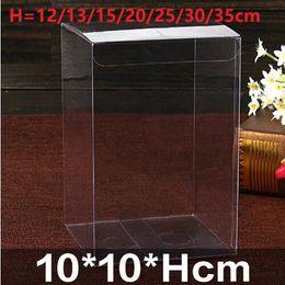 10 * 10 * Hcm Transparente À Prova D 'Água Clara PVC Caixas de Presentes Caixa de Doces Do Partido Caixa de Embalagem de Jóias Favor de Festa de Casamento Suprimentos Doces de Fornecedores de caixa transparente doce