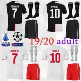 2019 camisetas de portero juvenil Kit adulto 2019 Juventus RONALDO camiseta de fútbol 19 20 MANDZUKIC DE LIGT Camiseta de portero de fútbol para hombres conjunto juvenil DYBALA JUVE Camiseta de futbol camisetas de portero juvenil baratos