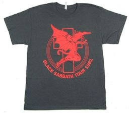 2019 camisas sabáticas negras Black Sabbath Tour 1981 Art Devil Grey T Shirt Nueva Banda Oficial ReissueFunny envío gratis Unisex Camiseta Casual camisas sabáticas negras baratos