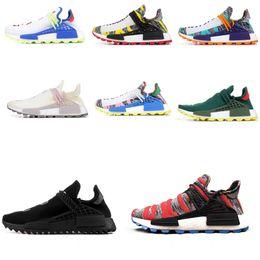 197d80029d9e4 nmd Human race Hu trail x pharrell williams Nerd men running shoes black  white cream SOLAR PACK mens trainers for women sports sneaker