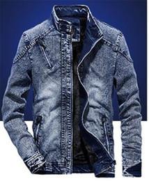 L uomo Jean Jacket Tempo libero Zipper Nessun cappotto incappucciato Designer manica lunga Young Winter Clothes bello in forma