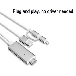 Argentina Adaptador de cable de iPad a HDMI, adaptador AV AV digital de iPhone Micro USB a HDMI 1080P HDTV Cable para iPhone XS Max / XR sin DHL cheap cable hdmi blackberry Suministro