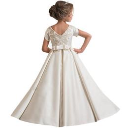 Jeunesse Européenne Et Américaine Enfants Mariage Princesse Robe Filles Piano Performance Vêtements Bébé Anniversaire Robe Élégante Robe Y19061801 ? partir de fabricateur