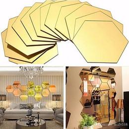 3D Altıgen Ayna Duvar Çıkartmaları Dekorasyon 12 adet / paket Akrilik Çıkarılabilir Ayna Kiremit Çıkartması DIY Ev Odası Merdiven Dekor HH9-2128 nereden