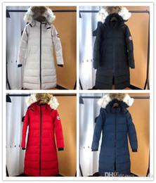 mujer parka camuflaje Rebajas Qulity Goos Brand Design Hooded Women Down Coat Luxury 86320 Thicken Down Jacket Parkas de camuflaje de Canadá 4 colores abrigos