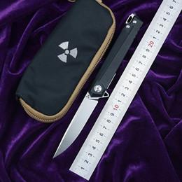 bronze forjado Desconto JK3311-G10 Flipper D2 lâmina de aço G10 + punho de aço bolso de caça ao ar livre faca dobrável de frutas cozinha EDC ferramenta