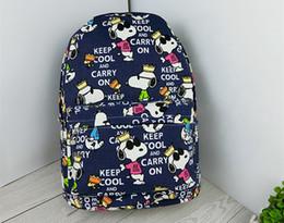 sacos snoopy Desconto Desenhos animados Snoopy lona off bolsa de ombro viagens de lazer mochila