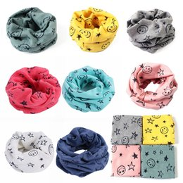 Papel de bebê da estrela on-line-7 cores do bebê Inverno Quente Meninos Girls Estrelas Collar Scarf Children O Ring Neck Lenços venda quente