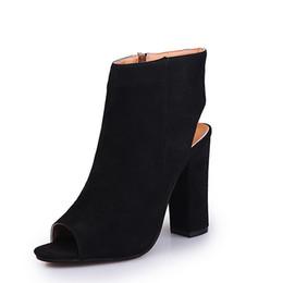 Chaussures coréennes taille en Ligne-2019 Sandales femme coréenne classique Chaussures à talons hauts Bottes pour la bouche du poisson Bottes grande taille Chaussures pour femmes