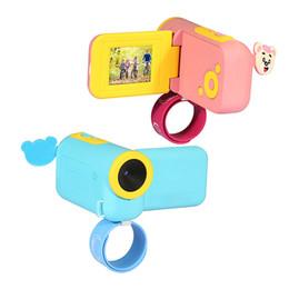 Canada Mini enfants caméra vidéo numérique DV avec Cartoon Stickers Noël Nouvel An anniversaire Festival Festival cadeau pour enfants garçons filles Offre