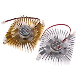 ventilador de pc 12v Rebajas DC 12V 80mm de gráficos de vídeo VGA Radiador Tarjetas ventilador de refrigeración 2pins del agujero de montaje del ventilador para PC buque julio gota