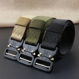 ceinture tactique en nylon noir Promotion Dropshipping marchandises hommes casual ceinture en nylon tricoté mens ceinture en métal ceinture ceintures tactiques pour hommes armée vert noir bleu