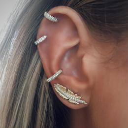 2019 brincos de orelha de orelha de cartilagem Bohemian Folha Clipe Em Brincos Moda Círculo de Cor Dourada de Cristal Manguito de Orelha Cartilagem Envoltório Da Orelha Earcuff Brincos Jóias desconto brincos de orelha de orelha de cartilagem