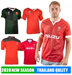 Camisa polo vermelha on-line-2019 Copa do Mundo de Rugby Jersey País de Gales Rugby Jersey Welsh polo T-shirt Rugby League Jersey Camisas Homens Red venda quente desportivas 2020