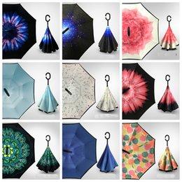 Зонтик для автомобилей онлайн-38 конструкций складной обратный зонт двойной слой перевернутый ветрозащитный дождь автомобильные зонтики для девочек быстрая доставка бесплатно
