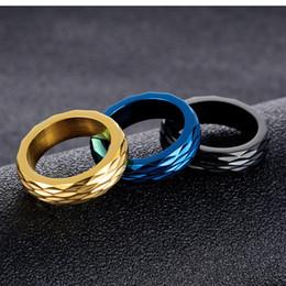 superfície dourada Desconto Golden Black Cor Azul Homem Anel Com Design de Superfície Irregular Preço Barato Homem Aniversário Bandas Moda Jóias Presente, gj613