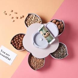 Drehtelefon neu online-Fashion New 5 Grid Flower Phone Slot Pralinenschachtel mit Deckel New Flower Candy Box