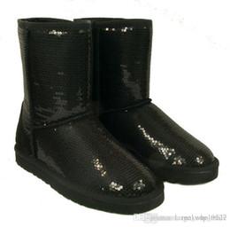 Paillettes paillettes la Argent femmes Noir Bottes BOTTE 6colors 5 d Taille à 10 de neige Bleu mode hiver doré prix pour violet bas Chaussures srtQCxdBh