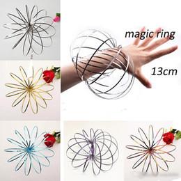 edelstahl armbänder für kinder Rabatt Toroflux flow ringe 5 zoll edelstahl kinetische federmetall sus 304 toroflux magic flow ring magic armband interaktives spielzeug für kinder
