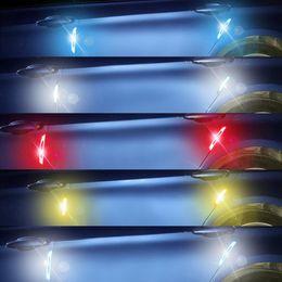 2019 protetores de porta de carro lateral 4pcs Car reflexiva Faixa de anti-colisão Aviso de Segurança Mark Side Car Anti-zero Faixa de Porta adesivo Porta Protector protetores de porta de carro lateral barato