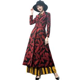 Jacquard Trenchcoat Langarm Plus Size Einreiher Frauen Mantel Elegante Hochwertige Blumen Schlank Fall Outwear 9072 von Fabrikanten