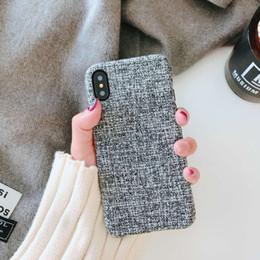 2019 capa iphone inverno Modelos de outono e inverno de tecido de linho caso de telefone móvel caixa criativa para iphone 6 7 8 x além disso ultra fino e leve tampa protetora tpu capa iphone inverno barato
