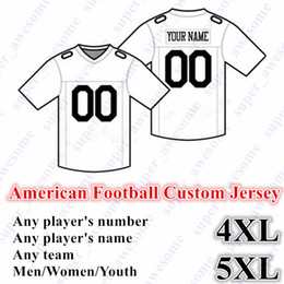 point de jersey de football Promotion NOUVEAU Football Américain CUSTOM Maillot Tous 32 Équipe Personnalisé N'importe quel Nom N'importe quel Nombre Taille S-6XL Ordre Mix Homme Hommes Jeunesse Enfants Cousu