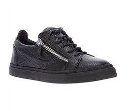 Zapatos casuales mujer cremalleras online-envío gratis Mujeres Hombres Zapatos Top SellShoes Casual Zip Sneakers Ladies Leather Low help Shoes
