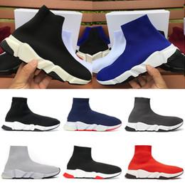 2020 Scarpe Speed Trainer calzino piattaforma casuale delle scarpe da tennis per gli uomini delle donne del progettista dei pattini Alto Medio Moda Rosso Nero di lusso Chaussure da vernice libellula fornitori
