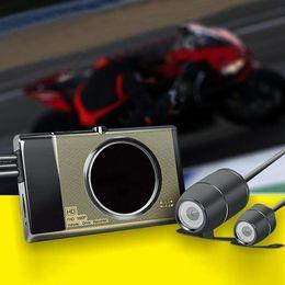 2019 sensor duplo de 4 g Moda TGeneral Sensor de Gravidade Escondida Lente Dupla Display LCD Motocicleta Gravador de Condução New Automotive Eletrônica car dvr
