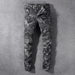 Mens jeans cerniere ginocchia online-Jeans Balmain Jeans New Fashion Street da uomo con cerniere Jeans hip-hop strappati con fori sul ginocchio in denim invecchiato