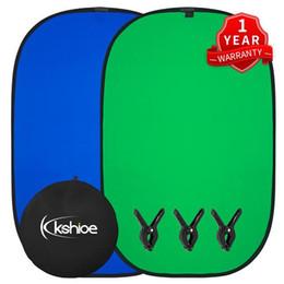 Muslin Mavi Yeşil Backdrop Arkaplan, Yeşil Mavi Chroma Key Çift Taraflı Pop-Up Katlanır Arka Plan Takımı Çanta 3 Balık Kelepçeleri Carry w / nereden yeni doğan kızlar saçları tedarikçiler