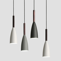 kitchen lighting styles Coupons - Pendant Lights nordic style LED Pendant Lamp Dining Room Suspension Luminaire wood lamp For Home Lighting modern hanging lamps