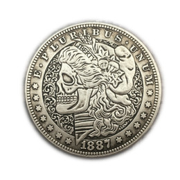 Wholesale Cadeau Vintage de American Silver Morgan Coin Antique Silver CoinsAmerican Currency Collection décoration artisanat usine en gros