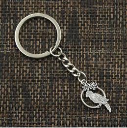 encantos de jaula de pájaros Rebajas 20 unids / lote llavero llavero joyería de plata plateado Birdcage Charms 14x28mm accesorios clave