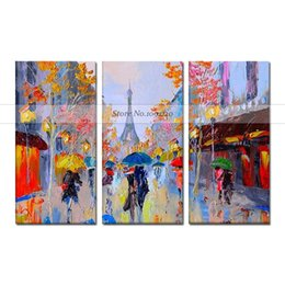 Canada 100% Peint À La Main Moderne Abstraite Toile Calligraphie Acrylique Image À La Main Coloré Vue Sur La Ville Paysage Toile Peinture à L'huile Offre