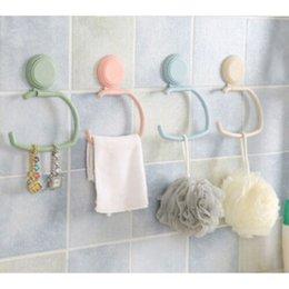 6 x starkes transparent Saugnapf Wand Haken Hänger für Küche und Badezimmer TY