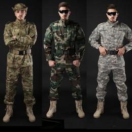 Hommes costume uniforme militaire en Ligne-Armée Uniforme Tactique Chemise + Pantalon Camouflage Camouflage ACU FG Combat Uniforme US Army Costume Costume Chasse