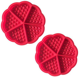 вафельная палочка Скидка 2 X Вафельная форма Вафельная форма для выпечки Силиконовая форма для выпечки с хорошим антипригарным покрытием Красный