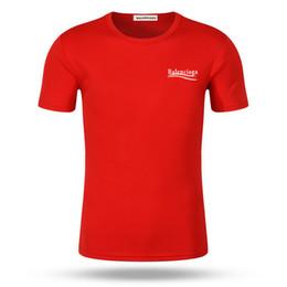 Bermudas dupla face on-line-Novo estilo B moda impressão impressão frente e verso Rodada collar Tee Mangas Curtas T Camisas Para homens Tops camisa de algodão Puro homem roupas