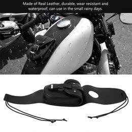 2019 cubierta sportster Fuel Tank Bag Cuero real Fuel Tank Chap Cover Panel Bag impermeable Universal para motocicleta Sportster XL 883 1200 negro rebajas cubierta sportster