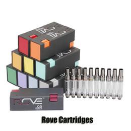 2019 bateria de mod do arco-íris Rove Vape Cartuchos Pyrex Tanque De Vidro Caneta Carrinhos 1.0 ml de Espuma De Cerâmica De Espuma De Óleo Atomizador Para 510 Bateria de Pré-aqueça 12 Sabores
