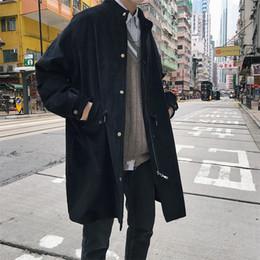 1d6a09561fd 2019 Autunno Inverno Solid Casual Cardigan lungo velluto a coste uomini  Trench Coat con cappuccio manica lunga Slim vendita calda Nuovo marchio  trench