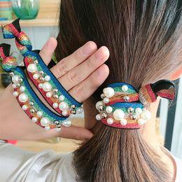 Nuevos accesorios para el cabello de alta elasticidad banda de goma de la cabeza cuerda de pelo anillo de color anudado rayita horquilla mano rebordear envío gratis desde fabricantes