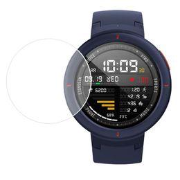 защитный экран Скидка Защитная пленка для умных часов для пленок экрана закаленного стекла Huami Amazfit грани Диаметр 26-42мм для Samsung Huawei xiaomi