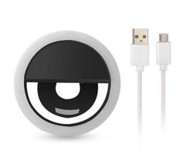 2019 treppiede Per Iphone X ricaricabile universale di lusso Smart Phone LED Flash Light Up Selfie anello del telefono luminoso per iPhone Android con ricarica USB