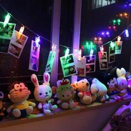 Canada Carte Photos Photos Clips Coloré 1.2M 10 LED Pegs Bright String Light Lampe Intérieur Home Party Festival Décor Jouet AAA1589 cheap clip lamps Offre