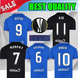 Camisetas de fútbol de TAVERNIER de TAVERNIER de la calidad tailandesa 2019 del Glasgow Rangers 19 20 Rangers camiseta de fútbol local 2020 negro Camisa de fútbol Dorrans MURPHY desde fabricantes