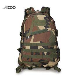 Bolsas militares online-Aicoo de alta calidad 40L Senderismo Bolsa de Camping Militar Táctico Trekking Mochila Mochila de camuflaje Mochilas de ataque OPP
